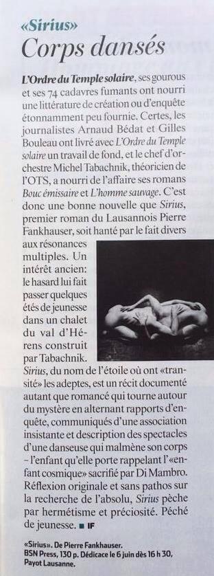 L'Hebdo, Isabelle Falconnier (05.06.14)