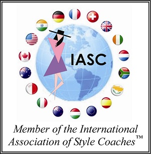button for the IASC (International Association of Style Coaches) of which Avril is a member.