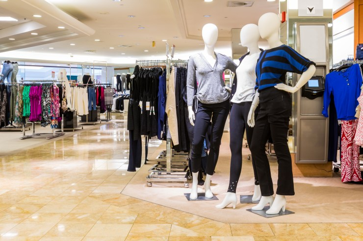 mannequins in department store