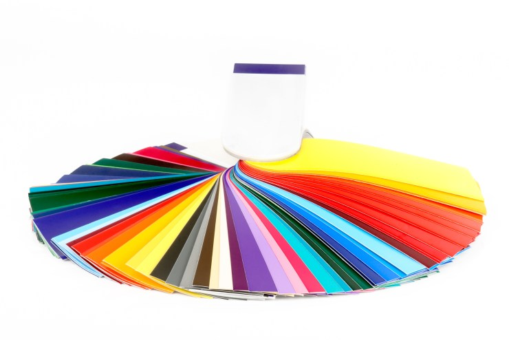 colour fan displaying full spectrum of colours