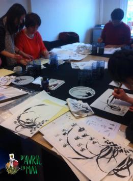 Nos premiers participants en pleine concentration.