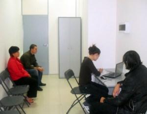 Отдельная комната, для заполнения фильтрационного блока анкет