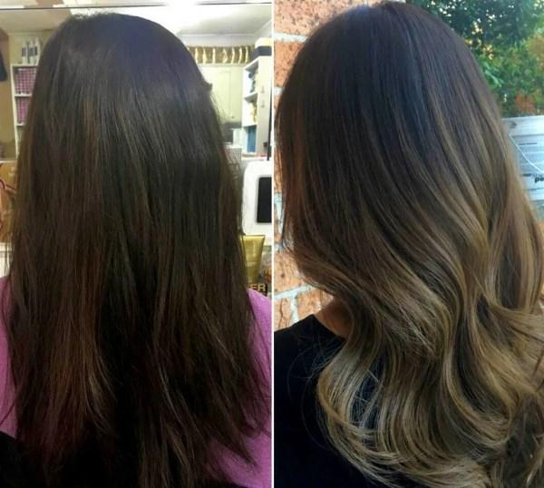 Мелирование на черные волосы — Фото до и после