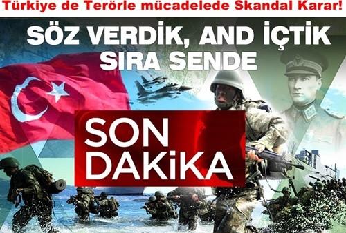 Türkiye de Terörle mücadelede Skandal Karar!