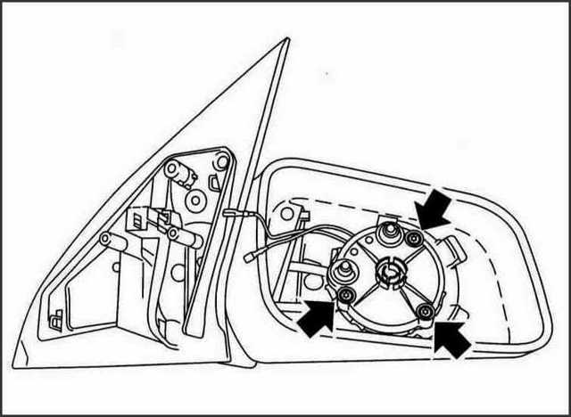 How to disassemble lateral mirrors? 4 ways