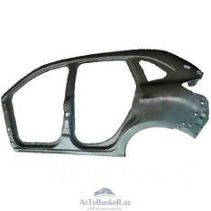 Боковина кузова Lada XRAY наружняя левая(катафорез) (крыло заднее+порог)