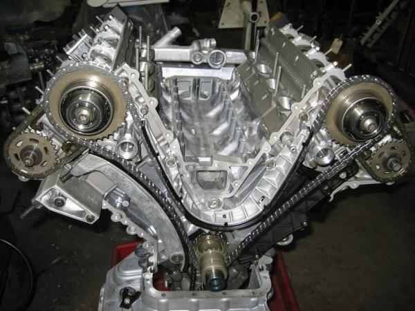 BMW-ден V8 жүйесіндегі мерзімдер тізбегі