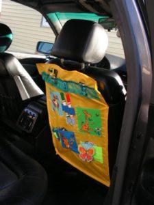 Детский органайзер в авто своими руками