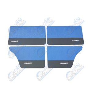 2101 Lada univerzális műbőr ajtókárpit garnitúra kék-fekete