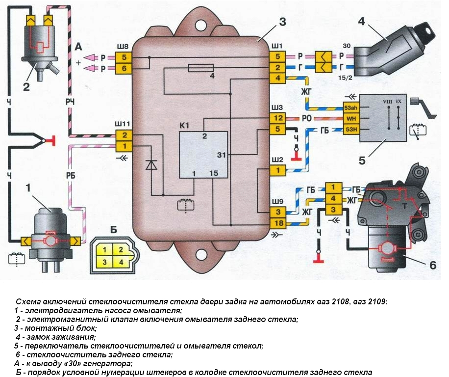 Wiper Motor Wiring Diagram Wiper Washer Wipers Device Characteristic Operation Scheme Wiper Malfunctions Include