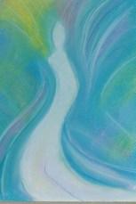 Pastelwerkje (c) Madeleine Oppelaar Datum: 10 Mei 1013 Titel: Time Rise. Thema: Bewustwording