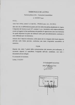 ordinanza trib. latina