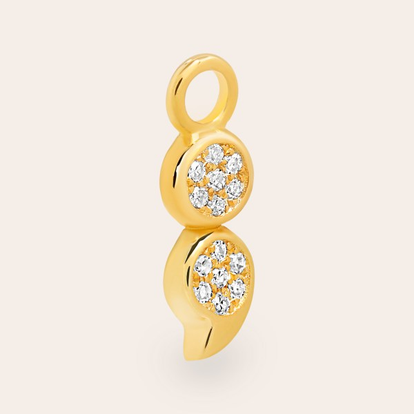 SemiC Yellow Gold Diamond Charm with 14 Diamonds