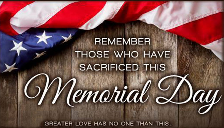 Memorial Day:  Holiday Office Hours