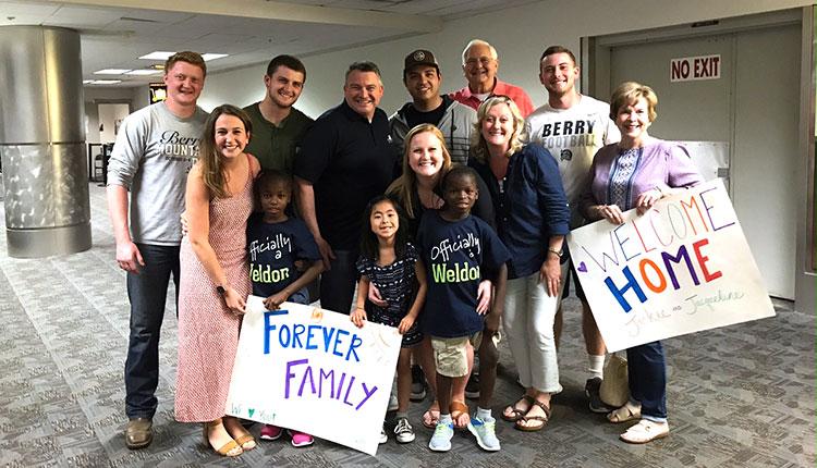 Welcome Home from Haiti, Weldon Family!