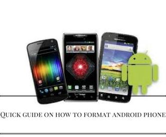 how to format android phone