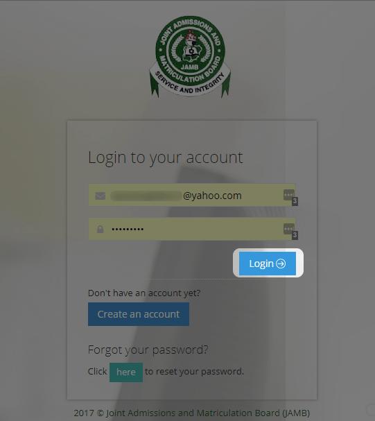 login to jamb e portal