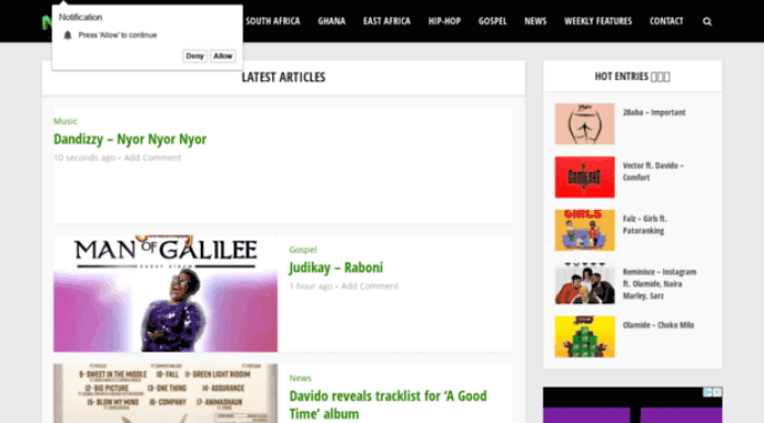 Websites to Download Nigerian Music