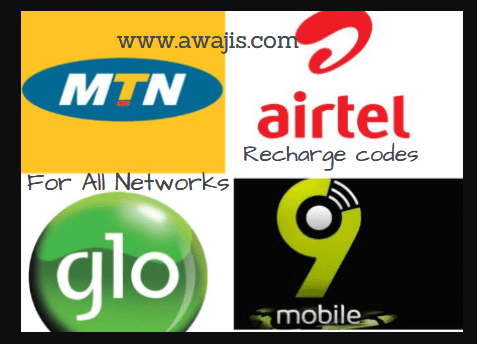 recharge codes for all networks