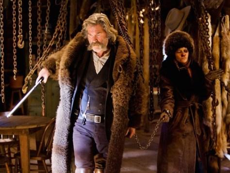 Kurt Russell and Jennifer Jason Leigh in The Hateful Eight