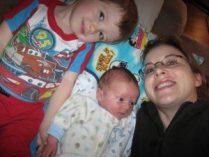 Melanie & her boys.
