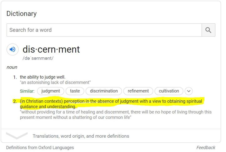 The Power of Discernment Definition