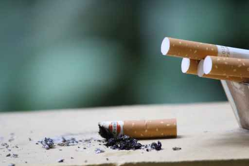 close up photo of cigarette learn to quit worrying about the future