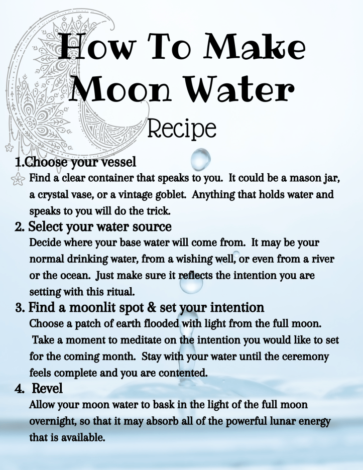 recipe for moon water