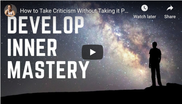 Watch: How to Take Criticism Without Taking it Personally