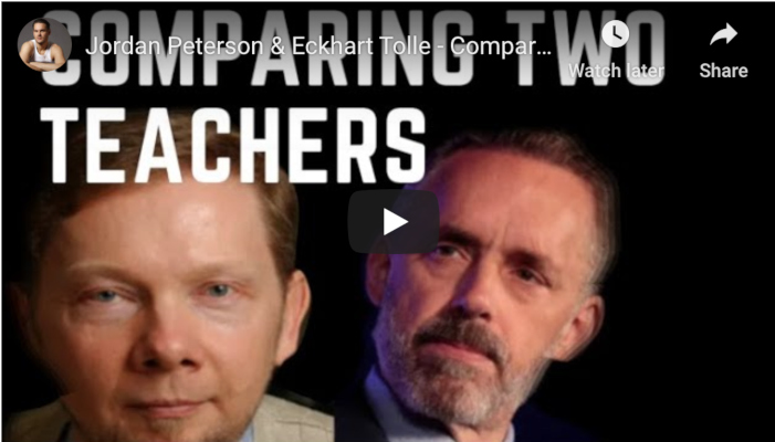Watch: Jordan Peterson & Eckhart Tolle – Comparing Two Teachers