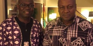 from (L) Dr. Lawrence Appiah, Founder of Freind of JDM-USA and fomer President Mahama