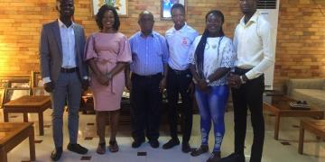 Members of the UHAS chapter of Mental Health and Well-being Foundation with Dr Letsa