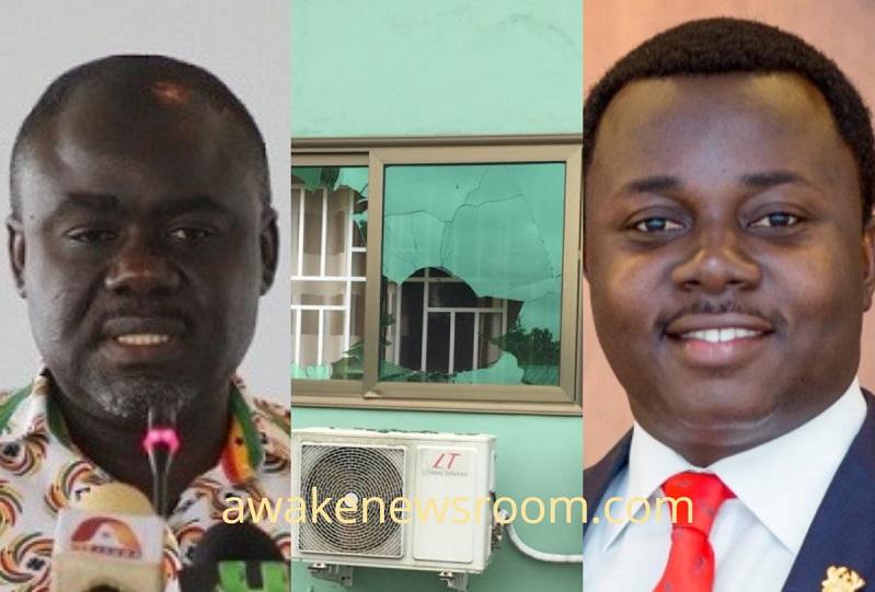 NPP Central Regional office Vandalized; Transport Minister, MP fingered