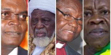 Dr. Emmanuel Akwetey, Chief Imam Osmanu Sharubutu, Rev. Emmanuel Asante and Ogyeahohoo Yaw Gyebi II