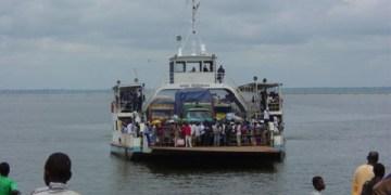 Ferry on volta lake