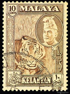 6 Stamps - Kelantan
