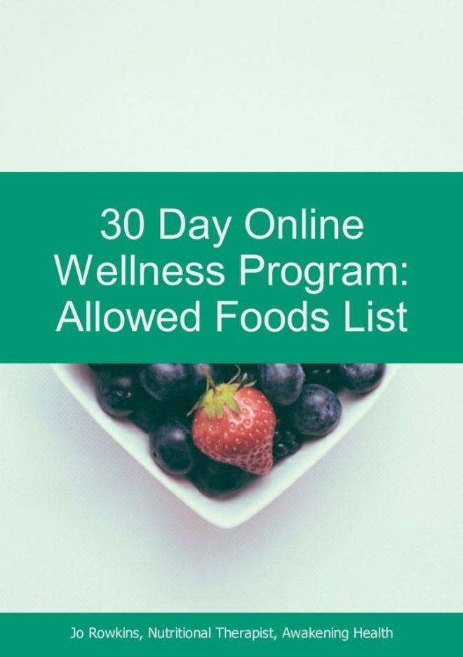 thumbnail of 30 Day Online Wellness Program-Allowed Foods List