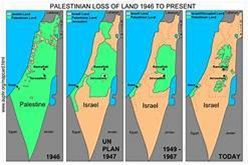 Map of Palestinian loss of land
