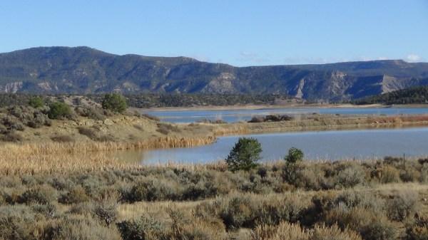 """Image: """"Archuleta County, Colorado 4: Navajo Reservoir,"""" by Alice B. Clagett, 28 November 2015 … CC BY-SA 4.0"""