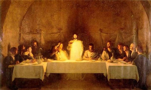 "Image: ""Last Supper,"" by Pascal Dagnan-Bouveret, 1896, from Wikipedia, public domain."