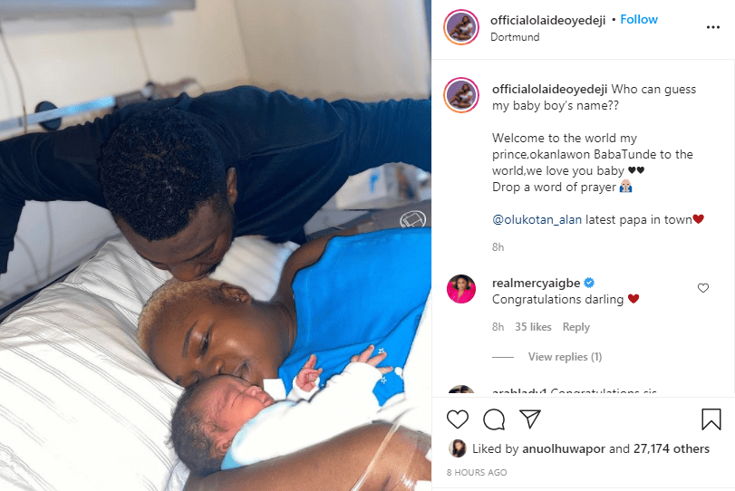 Actress Olaide Oyedeji and husband welcome a child in Germany  1