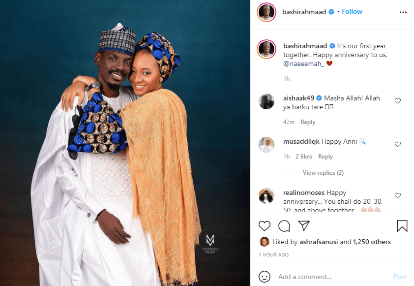 Presidential aide, Bashir Ahmad and wife celebrate first wedding anniversary  1