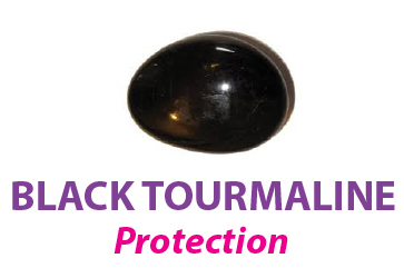 Black Tourmaline stone for protection.