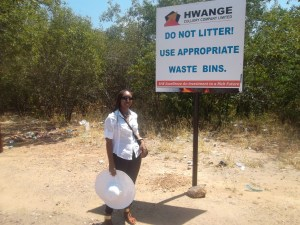 I found this image funny and ironic. I think it's fitting for a story about garbage. (Hwange, Zimbabwe)