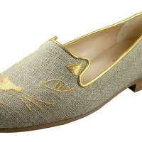 How to Wear It: Jon Josef Gatsby Cat Flat in Natural Linen