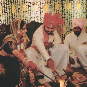 Indians skipper Rohit Sharma tied the knot with his fiancee