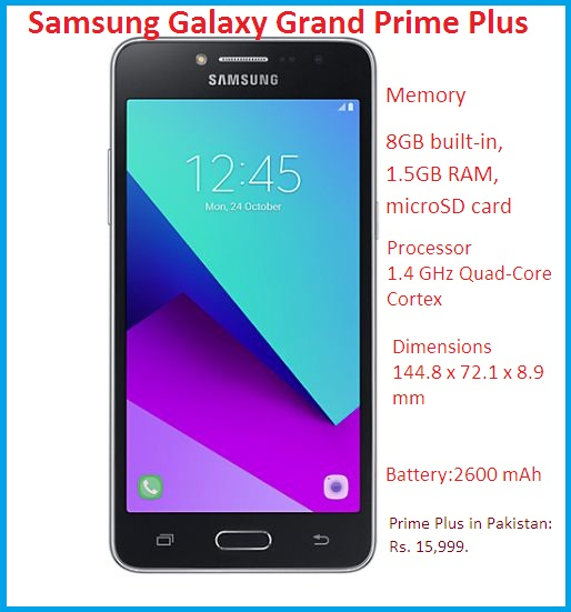 Samsung Galaxy Grand Prime Plus Specification Amp Features