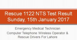 Rescue 1122 (Recruitment Test) result