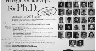 Shahbaz Sharif Merit Scholarship (SSMS) PhD Level Scholarship 2017