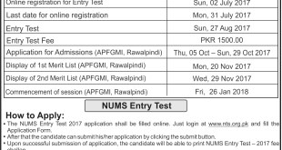 ALLIED HEALTH SCIENCES ADMISSIONS 2017